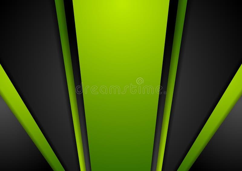 Fond abstrait noir vert vibrant illustration de vecteur