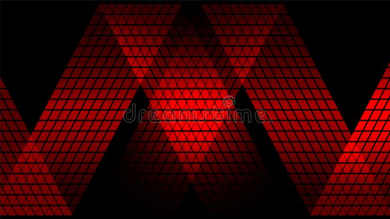 Fond abstrait numérique rouge de technologie illustration stock
