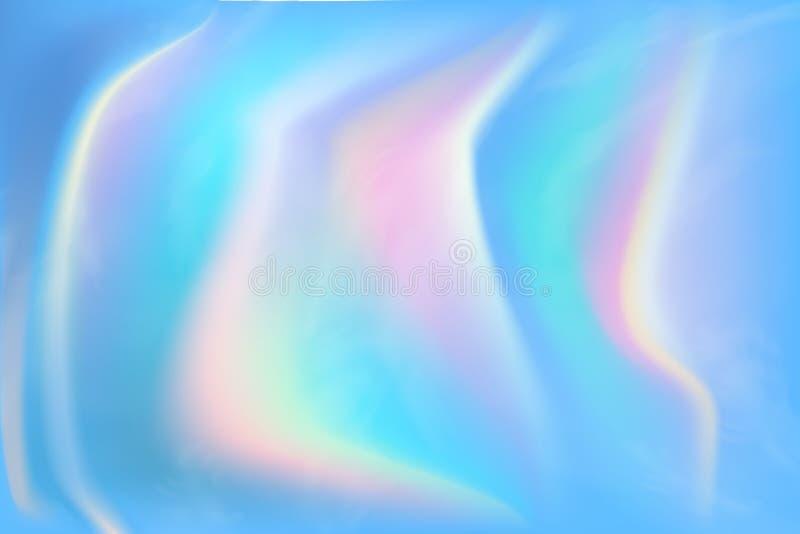 Fond abstrait olographe à la mode avec la maille de gradient Texture iridescente Illustration de vecteur pour votre créatif illustration de vecteur