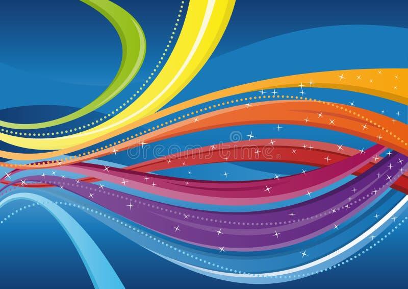 Fond abstrait - ondes colorées illustration stock
