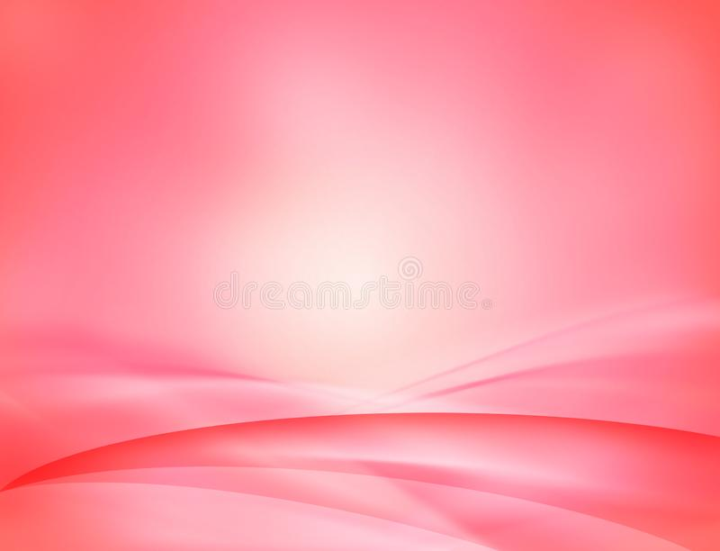 Fond abstrait ondulé rose illustration stock