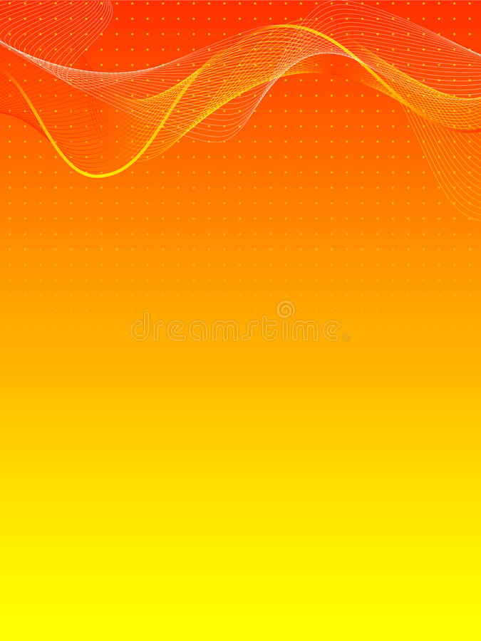 Fond abstrait orange et jaune illustration stock