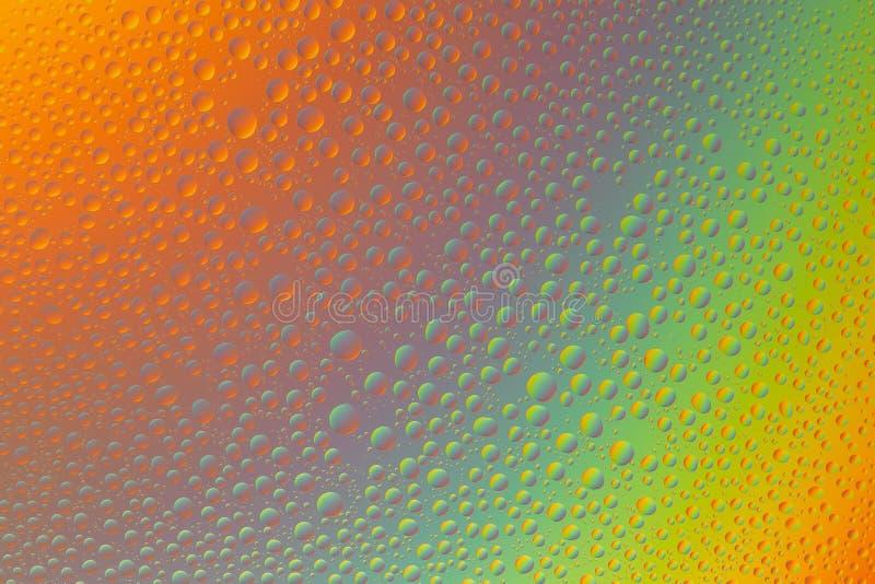 Fond abstrait orange et vert avec le gradient de couleur images stock