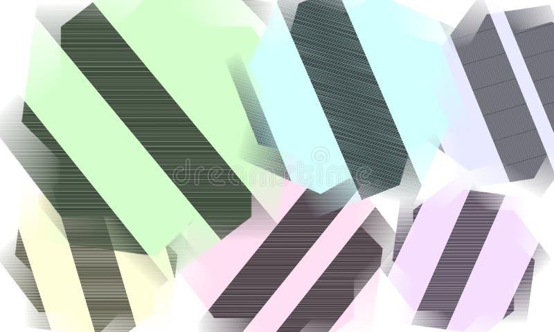 Fond abstrait - papier peint coloré de formes illustration libre de droits