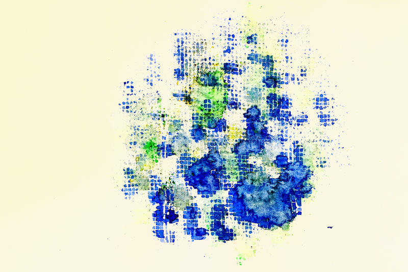 Fond abstrait peint à la main abstrait d'aquarelle Texture de papier d'aquarelle Pour le modèle moderne, papier peint, texte illustration libre de droits