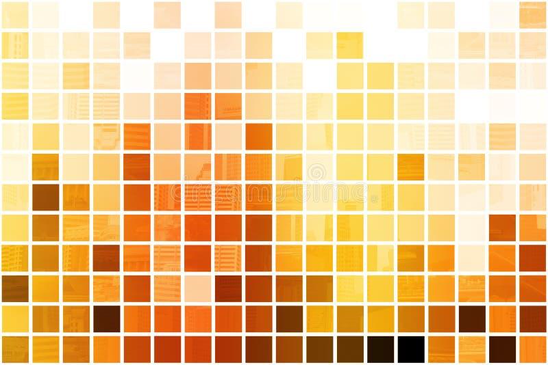 Fond abstrait professionnel cubique orange illustration de vecteur