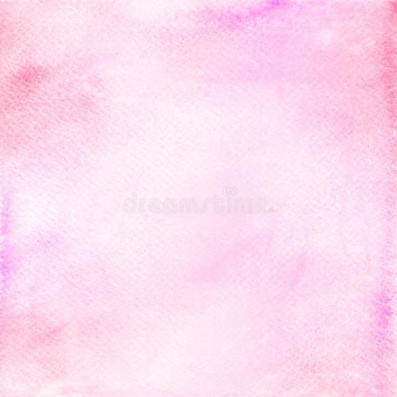 Fond abstrait rose d'aquarelle sur la texture de papier illustration stock