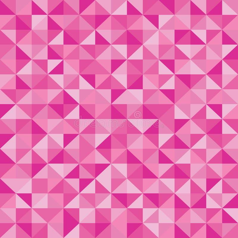 Fond abstrait rose de triangle illustration stock