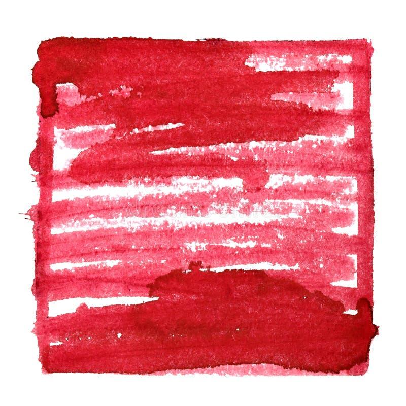 Fond abstrait rouge avec le cadre et l'ombrage illustration stock