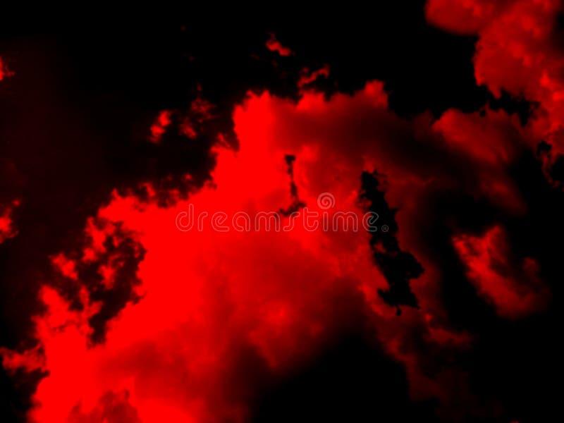 Fond abstrait rouge de fumée ou de brouillard photos libres de droits