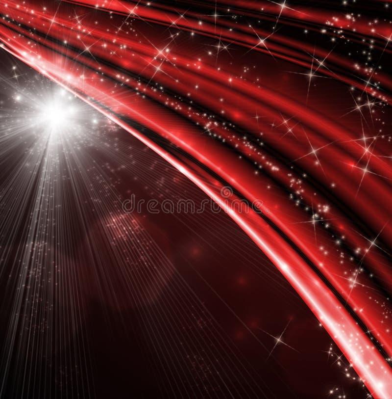 Fond abstrait rouge de Noël illustration de vecteur