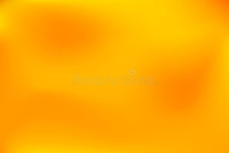 Fond abstrait rouge lumineux des taches troubles Fond abstrait jaune-orange lumineux des taches troubles illustration libre de droits