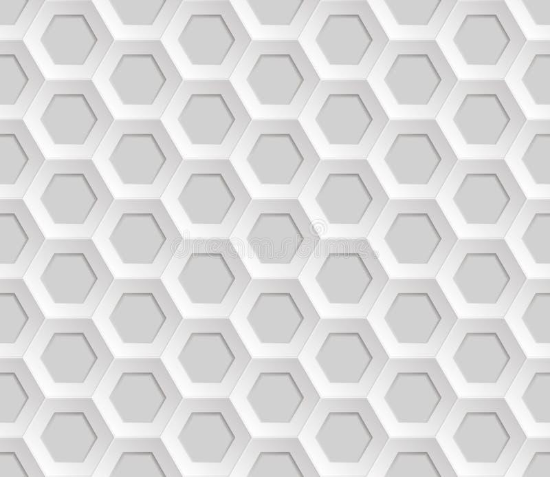 Fond abstrait sans couture de maille de nid d'abeilles - hexagones illustration stock