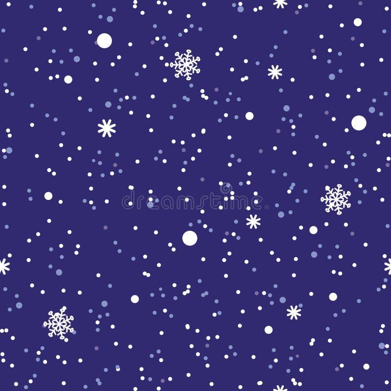Fond abstrait sans couture de neige d'hiver de modèle illustration stock