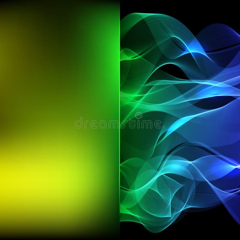 Fond abstrait se composant de la ligne colorée, vecteur illustration de vecteur