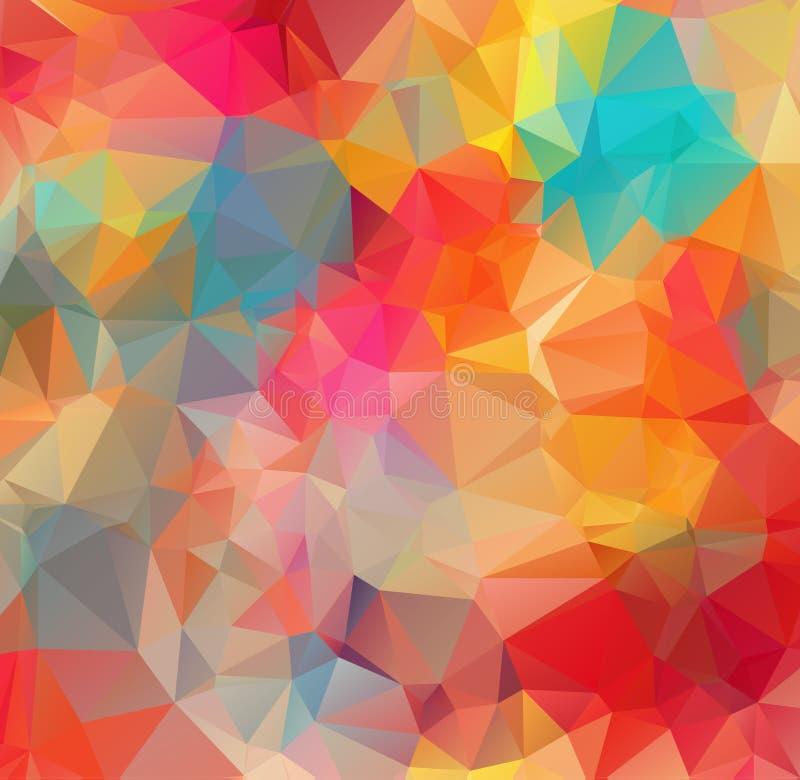 Fond abstrait se composant des triangles Fond abstrait de mosaïque Fond polygonal blanc abstrait de mosaïque, illust de vecteur illustration libre de droits