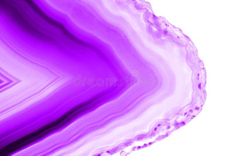 Fond abstrait, section transversale minérale d'agate ultra-violette de pruple photo stock
