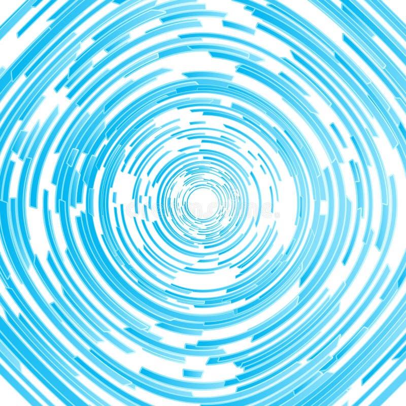 Fond abstrait spiralé cerclé moderne illustration stock