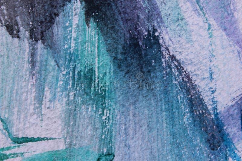 Fond abstrait sur une surface de texture dans des tons bleus et violets illustration stock