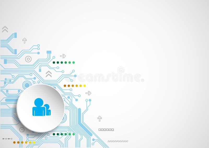 fond abstrait technologique communication de connexion Illustration de vecteur illustration libre de droits