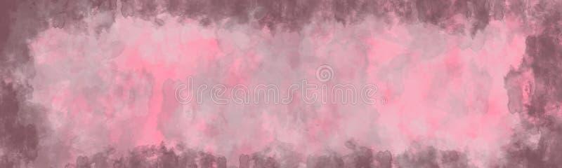 Fond abstrait, texture de cru avec la frontière illustration stock