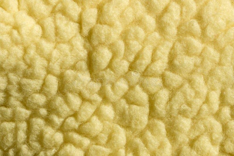 Fond abstrait, texture en jaune Laine naturelle photographie stock libre de droits