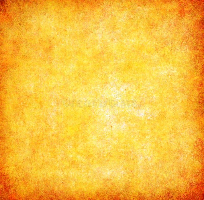 Fond abstrait texturisé de grunge jaune images stock