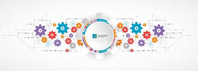 Fond abstrait, thème de technologie pour vos affaires illustration de vecteur