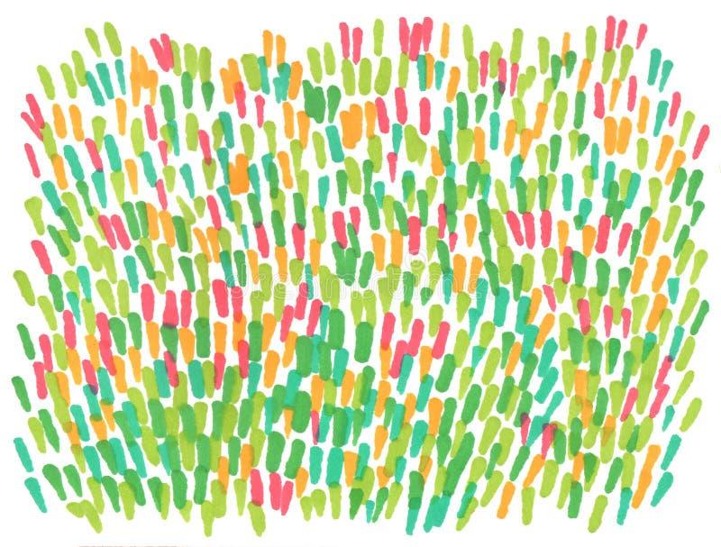 Fond abstrait tiré par la main de pelouse de ressort de marqueur illustration stock