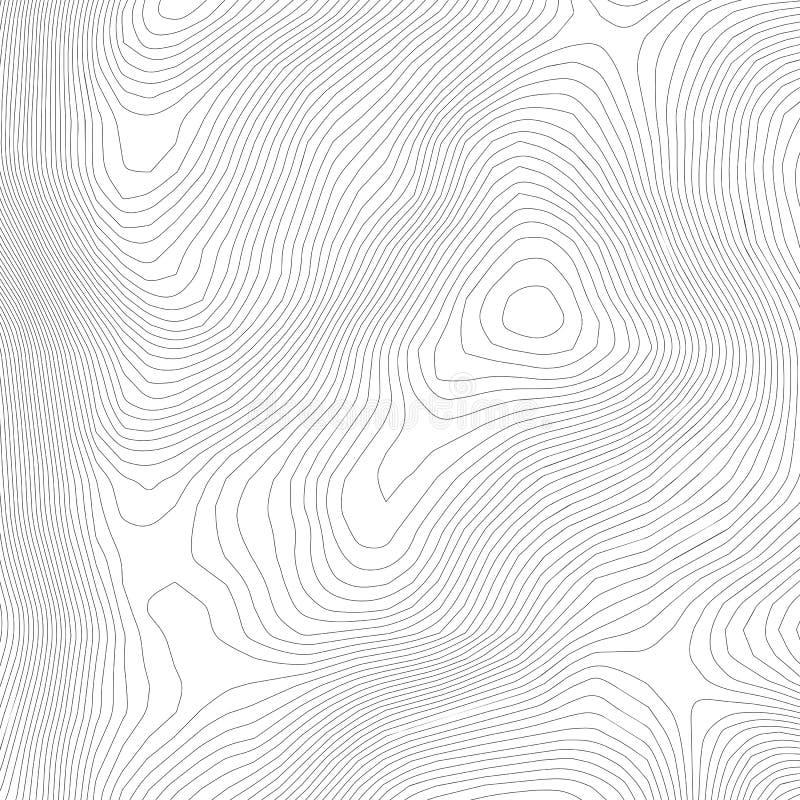 Fond abstrait topographique de carte de d?coupe Carte d'altitude Contour incurv? creux Vecteur topologique de carte G?ographie et illustration libre de droits