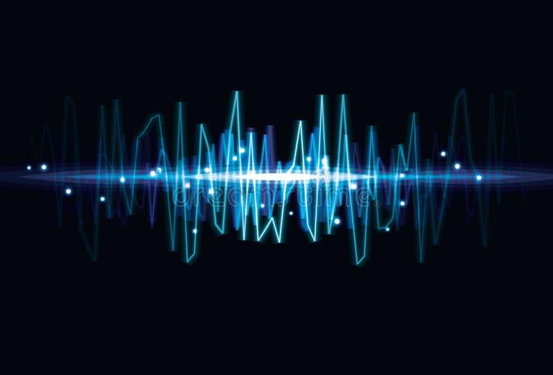 Fond abstrait trouble d'effet de la lumière d'onde illustration de vecteur
