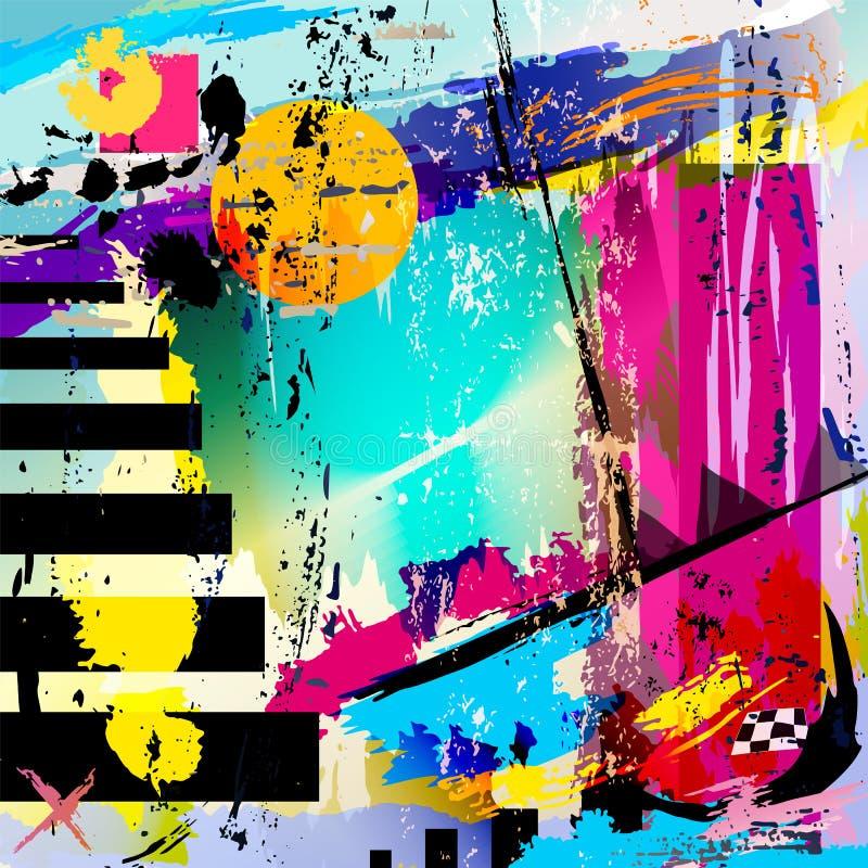 Fond abstrait, vecteur illustration stock