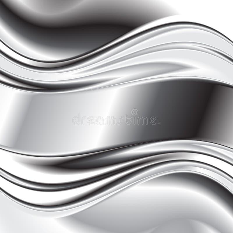 Fond abstrait, vecteur argenté métallique illustration stock