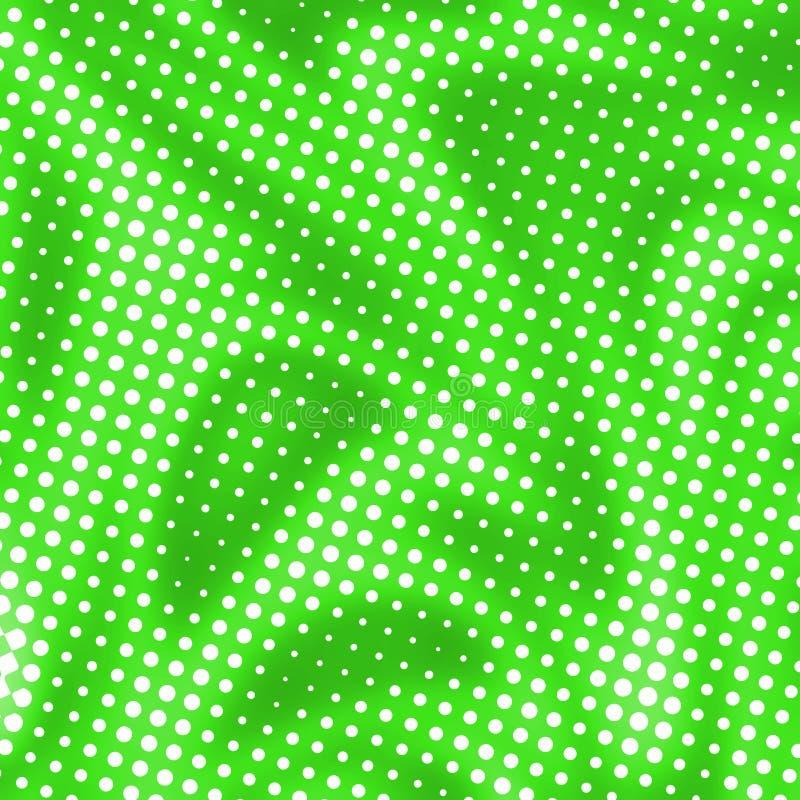 Fond abstrait vert avec les points tramés illustration stock