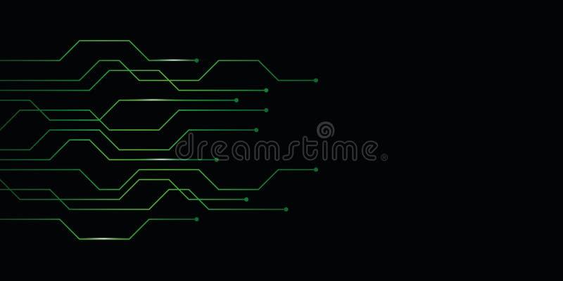 Fond abstrait vert de carte de technologie numérique illustration stock