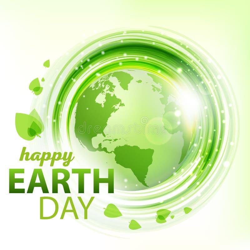 Fond abstrait vert de vecteur avec la terre illustration libre de droits