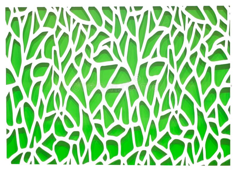 Fond abstrait vert et blanc illustration stock