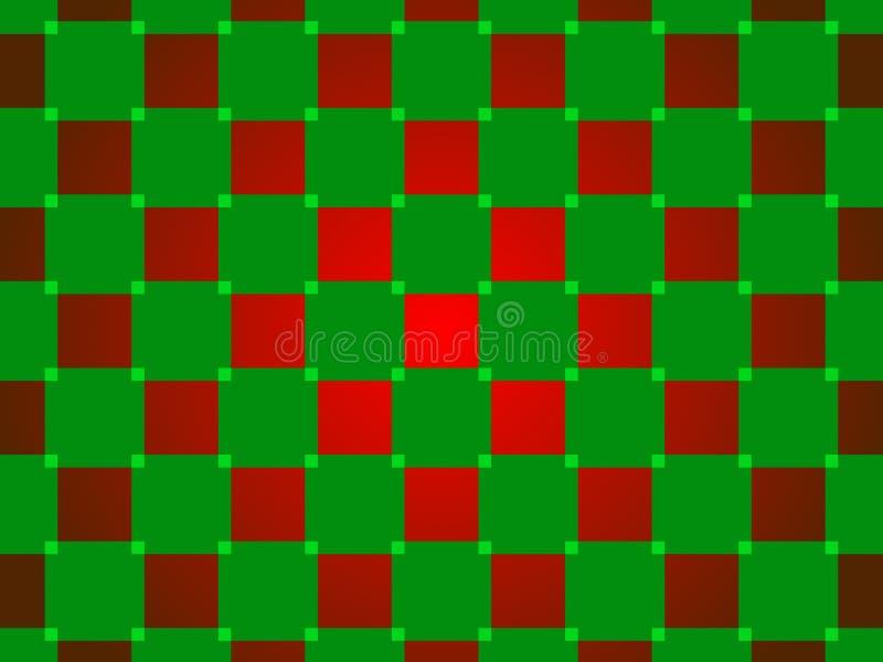 Fond abstrait vert et rouge, places illustration libre de droits