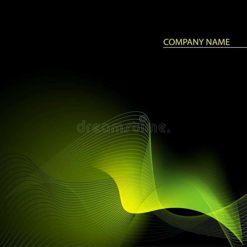 Fond abstrait vert, jaune et noir illustration de vecteur