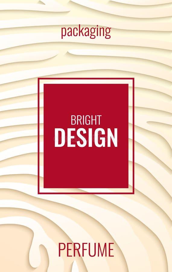 Fond abstrait vertical clair pour le parfum Bandes de papier sur le contexte beige illustration de vecteur