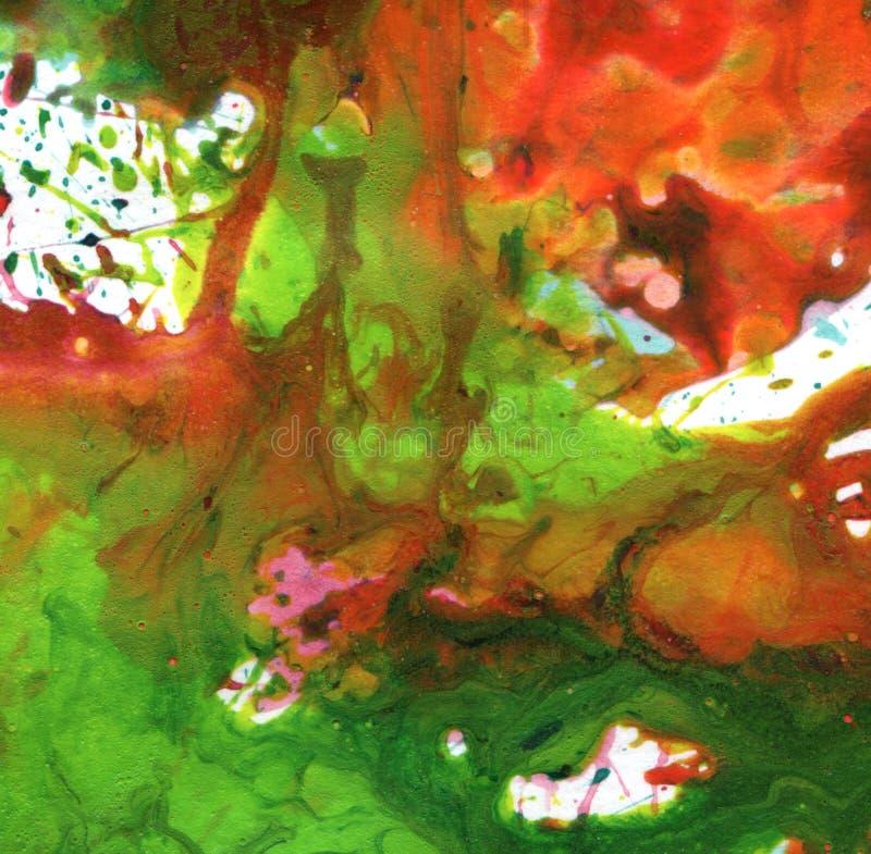 Fond acrylique abstrait de tache de peinture de main illustration stock
