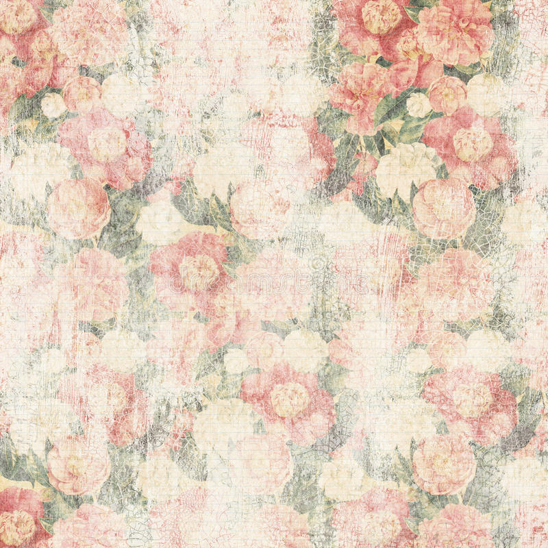 Fond affligé de fleur image stock