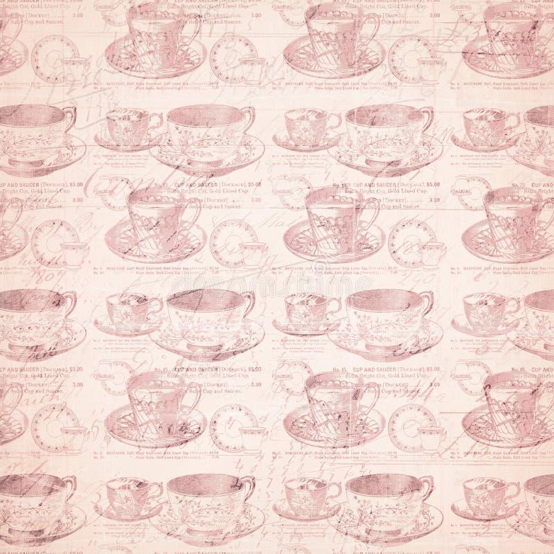 Fond affligé sale de tasse de thé photo stock