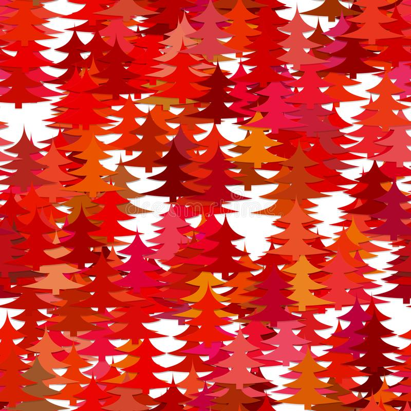 Fond aléatoire abstrait sans couture de modèle de pin - dirigez la conception de vacances de Noël avec les pins stylisés rouges illustration libre de droits