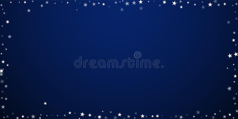 Fond aléatoire de Noël d'étoiles filantes subtile illustration libre de droits