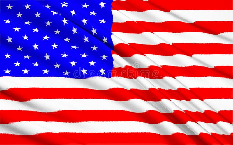 Fond américain de drapeau de bannière étoilée image libre de droits