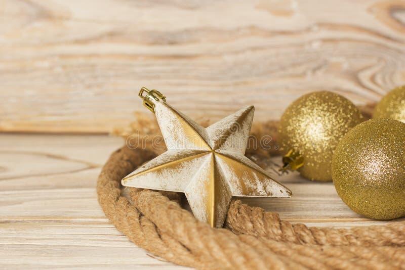 Fond américain de Noël avec le lasso et le Noël De de cowboy image libre de droits
