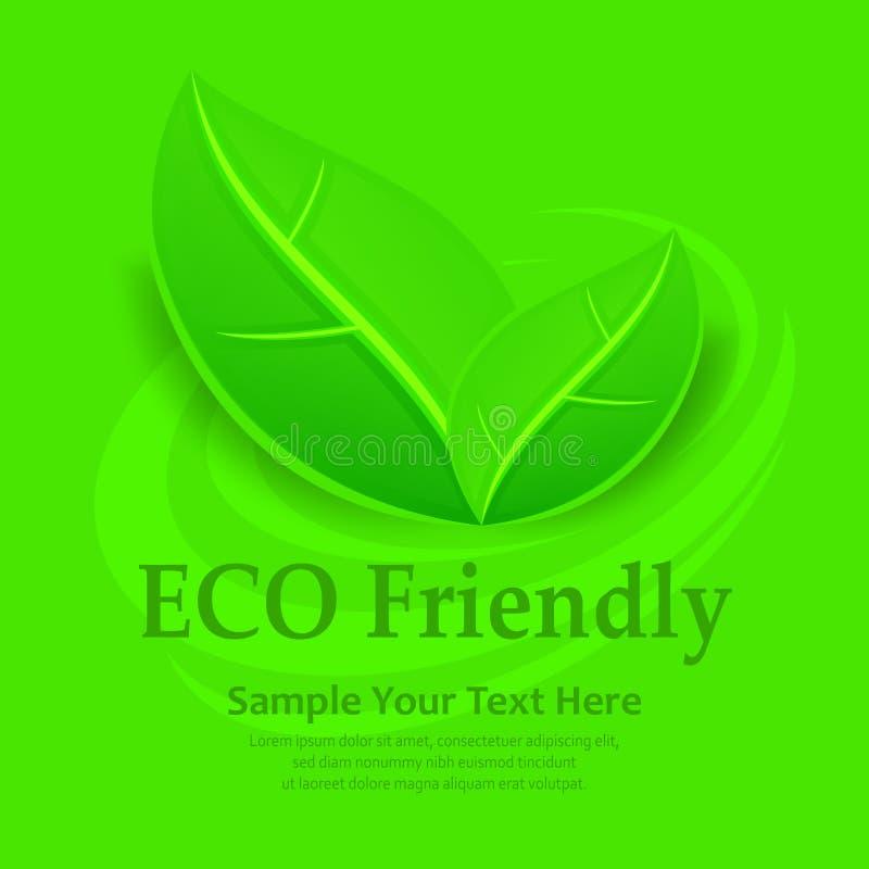 Fond amical d'Eco illustration libre de droits
