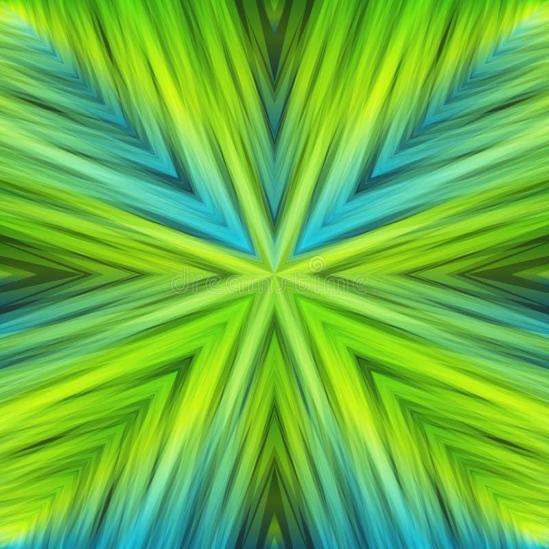 Fond angulaire rayé vert clair de couleurs de ressort illustration stock