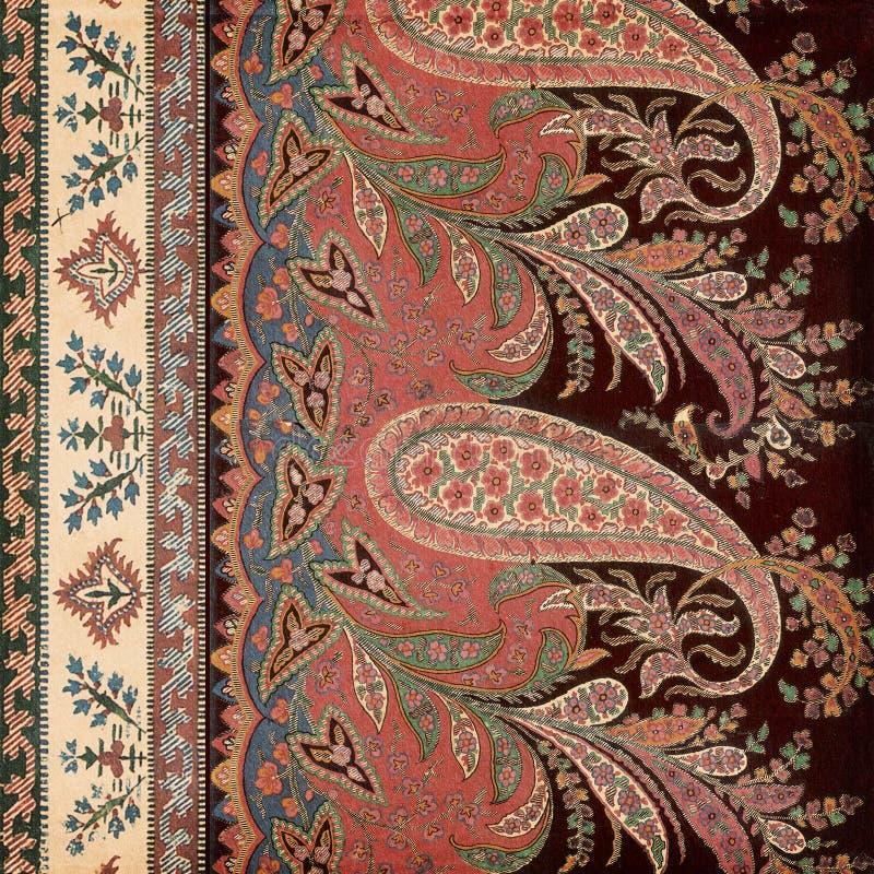 Fond antique d'Indien de Paisley de cru images stock